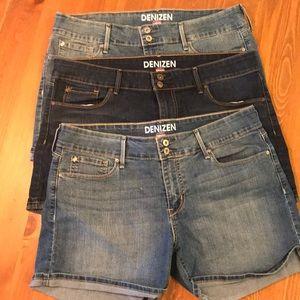 (3) Pairs Levi's Denizen Jean Shorts Bundle SZ:14